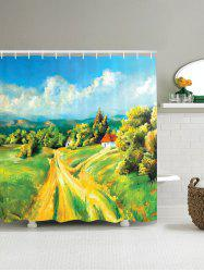 Countryside Road Oil Painting Shower Curtain
