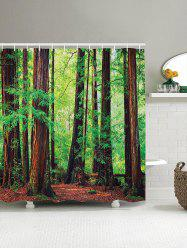3D Forest Shower Curtain
