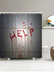 Seek Help Pattern Shower Curtain