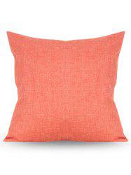 Square Solid Color Linen Pillow Case - ORANGE