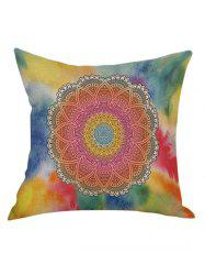 Flower Hexagram Printed Pillow Case