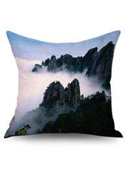 3D Natural Mountain Linen Pillowcase