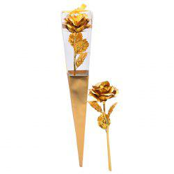 Valentine's Day Gift Artificial Plated Rose Flower