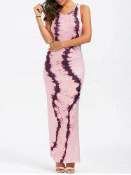 Tie Dye High Slit Maxi Tank Dress