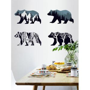 Removable Tree Bear Wall Art Sticker - Deep Blue - 60*90cm