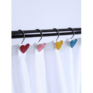 12 Pcs Twinkling Heart Shower Curtain Hooks -