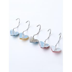 12 Pcs Twinkling Heart Shower Curtain Hooks - COLORMIX