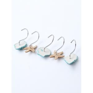 12 Pcs Seashell Shower Curtain Resin Hooks -