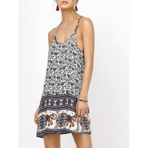Floral Mini Backless Slip Summer Dress