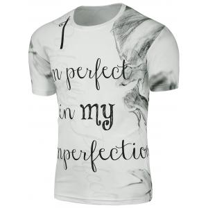 Ink Painting Graphic T-Shirt - White - 2xl