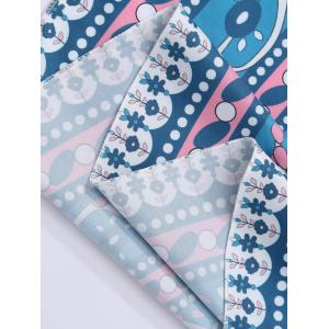Round Floral Print Beach Cover Throw -