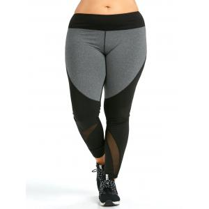 Colorblock Plus Size Workout Leggings -