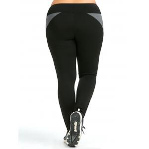 Colorblock Plus Size Leggings d'entraînement -