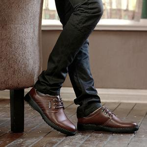 Stitching Colour Block Formal Shoes -