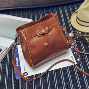4 Pieces Faux Leather Crossbody Bag Set - BROWN