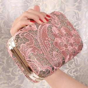 Lace Cover Evening Clutch Bag -
