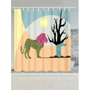 Animal Water Resistant Fabric African Shower Curtain