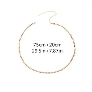 Embellished Sequins Body Jewelry Belly Chain - GOLDEN