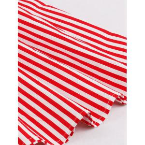 Vintage Stripe Pin Up Dress - RED XL