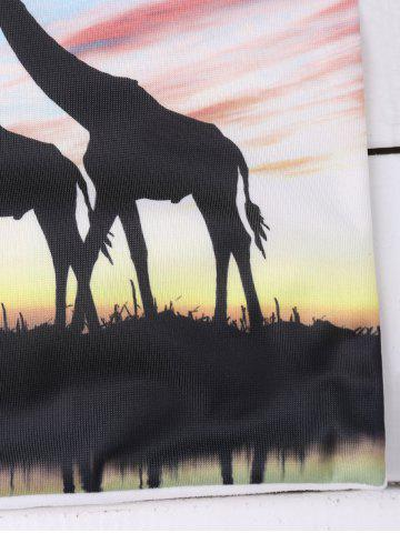 Sale Giraffes Tree Cushion Cover African Throw Pillow Case - LIGHT BLUE  Mobile