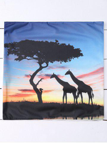 Store Giraffes Tree Cushion Cover African Throw Pillow Case - LIGHT BLUE  Mobile