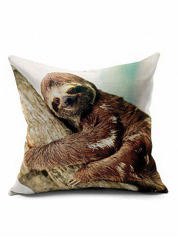 Sale Smile Sloth Home Decoration Throw Pillow Case - BROWN  Mobile