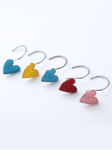 Affordable 12 Pcs Twinkling Heart Shower Curtain Hooks - COLORMIX  Mobile