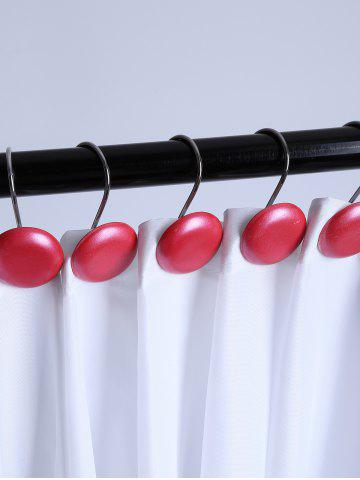 Affordable 12 Pcs Cute Round Shower Curtain Hooks - ROSE MADDER  Mobile