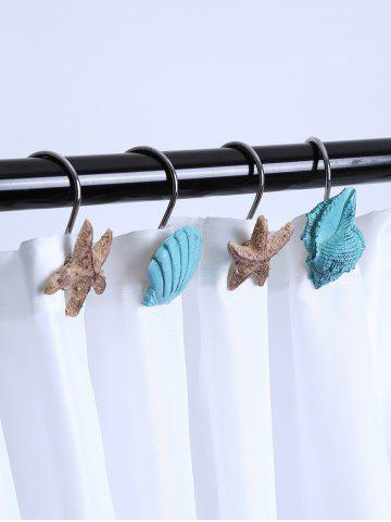 Shop 12 Pcs Seashell Shower Curtain Resin Hooks - LAKE BLUE  Mobile
