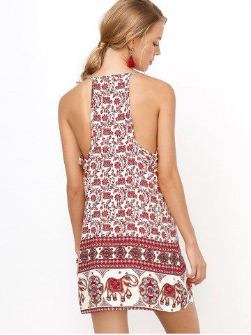 Buy Floral Mini Backless Slip Summer Dress - XL RED Mobile