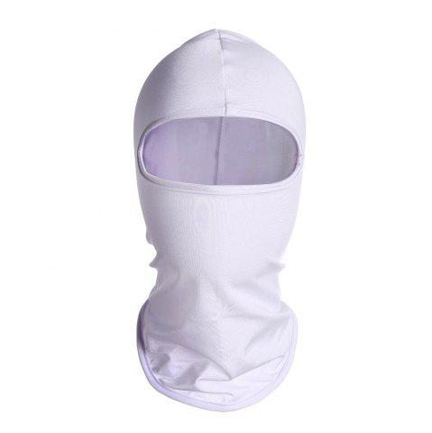 Fancy Quick Dry Full Face Cycling Mask for Outdoor Sports - WHITE  Mobile