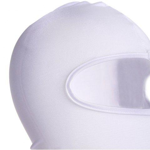Sale Quick Dry Full Face Cycling Mask for Outdoor Sports - WHITE  Mobile