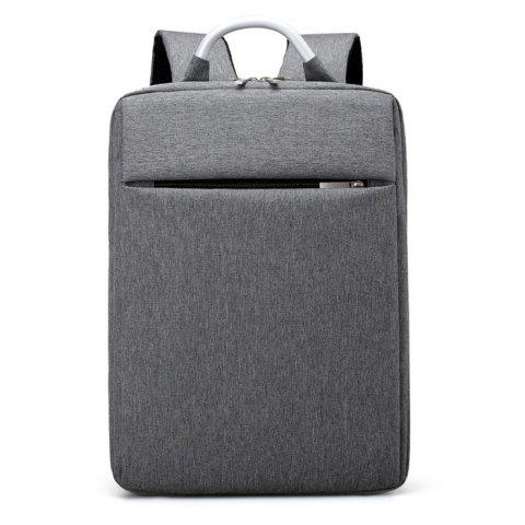 Trendy Top Handle Mesh Padded Strap Backpack - GRAY  Mobile