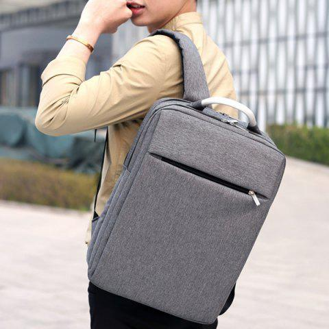 Unique Top Handle Mesh Padded Strap Backpack - GRAY  Mobile