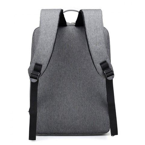 Store Top Handle Mesh Padded Strap Backpack - GRAY  Mobile