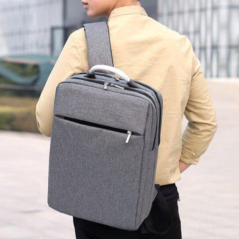 Best Top Handle Mesh Padded Strap Backpack - GRAY  Mobile