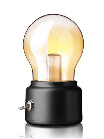 Affordable British Style Home Decorative USB Rechargeable LED Small Night Light - BLACK  Mobile