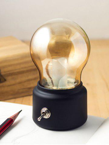 Discount British Style Home Decorative USB Rechargeable LED Small Night Light - BLACK  Mobile