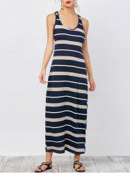 Stripe Ankle Length Tank Dress