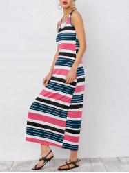 Stripe Ankle Length Maxi Tank Dress