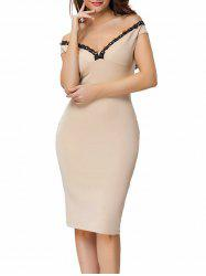 Back Zip Off The Shoulder Bodycon Dress