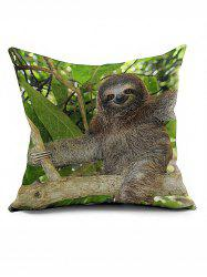 Climb Tree Sloth Cushion Cover Throw Pillow Case