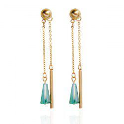Alloy Faux Gem Bar Earrings
