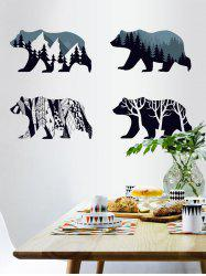 Removable Tree Bear Wall Art Sticker - DEEP BLUE