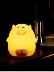 Cartoon Color Change LED Night Light with Alarm Clock