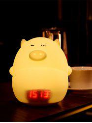 Color Change LED Cartoon Night Light with Alarm Clock