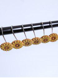 12 Pcs Sunflower Resin Shower Curtain Hooks