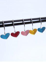 12 Pcs Twinkling Heart Shower Curtain Hooks