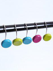 12 Pcs Round Shape Shower Curtain Resin Hooks