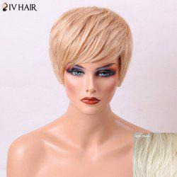 Siv Hair Layered Natural Straight Side Bang Short Human Hair Wig
